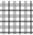 tartan black white seamless pattern vector image