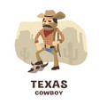 texas cowboy in a hand drawn style vector image vector image