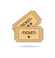tickets on white background vector image vector image