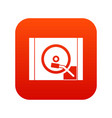 turntable icon digital red vector image vector image