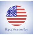 veterans day card vector image