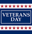 veterans day in the united states of america vector image vector image