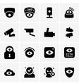 Video surveillance vector image vector image
