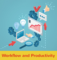 Workflow and productivity collection vector image