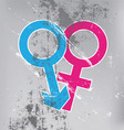 sexual symbol on grunge wall vector image