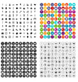 100 beauty and makeup icons set variant vector image vector image