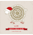 2015 Happy new year greeting card with cute sheep vector image vector image
