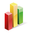 3d bar graph vector image vector image