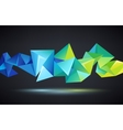 abstract crystal 3d faceted geometric vector image vector image
