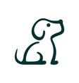 abstract cute dog logo icon concept vector image