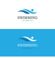 abstract swimming logo vector image vector image