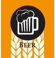 Beer concept design vector image vector image