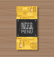 beer menu design for restaurant cafe pub chalked vector image