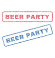 beer party textile stamps vector image vector image