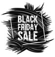black friday sale advertise design vector image