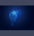 brokenlightbulb vector image