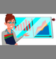 broker female successful stock-market vector image