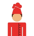 chef avatar isolated icon design vector image vector image