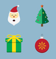 Christmas icon set vector image