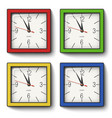 collection of square wall clocks vector image