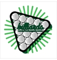 Color vintage billiard emblems vector image vector image