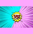 comic vs wording template vector image vector image
