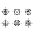 compasses isolated icons rose wind nautical vector image vector image