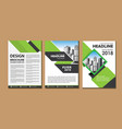 cover layout flyer or brochure vector image