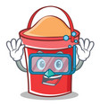 diving bucket character cartoon style vector image vector image