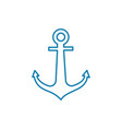 double-fluked anchor linear icon concept double vector image vector image