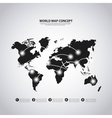 Earth icon World and Map design graphic vector image vector image