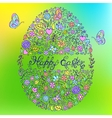 easter egg on colorful background vector image vector image