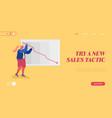 economy crisis statistics website landing page vector image vector image