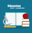 education easy learning set icons vector image