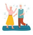 elderly couple dancing together vector image