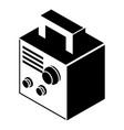 electro welding machine icon simple black style vector image vector image