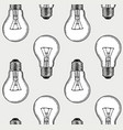 engraving light bulbs vector image vector image