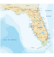 florida road map with national parks vector image vector image