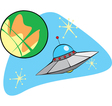 Flying Saucer from Mars vector image vector image
