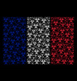 french flag collage of biohazard icons vector image