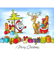 funny christmas design with Santa Claus vector image vector image