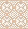 geometric round shape seamless pattern vector image