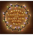 Glowing Varicolored Christmas Lights Wreath vector image vector image
