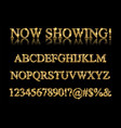 gold alphabet letters isolated vector image