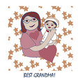 grandparents day happy family grandmother with vector image vector image