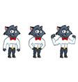 Grey cat mascot vector image