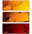 grunge halloween banners vector image vector image