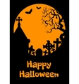 Halloween card with cript vector image vector image