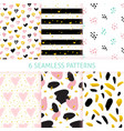 happy mothers day trendy seamless patterns vector image vector image
