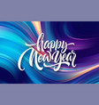 happy new year 2020 lettering greeting vector image vector image
